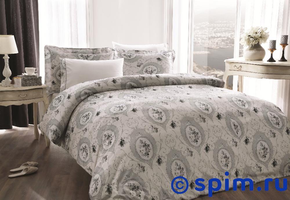 Постельное белье Tivolyo Angel, серый Евро-стандарт постельное белье tivolyo delux viola евро стандарт