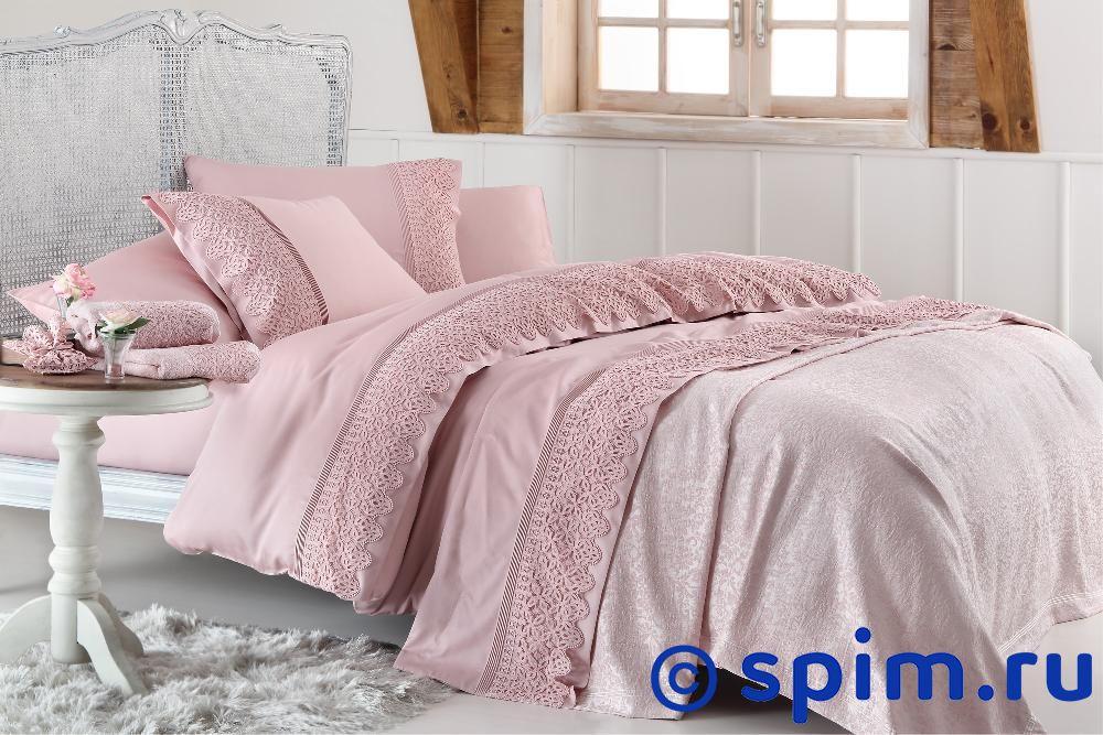 Постельное белье Gelin Home с покрывалом, Lyon кремовый Евро-стандарт набор для спальни do and co ipek покрывало кпб евро полотенца кремовый 9021