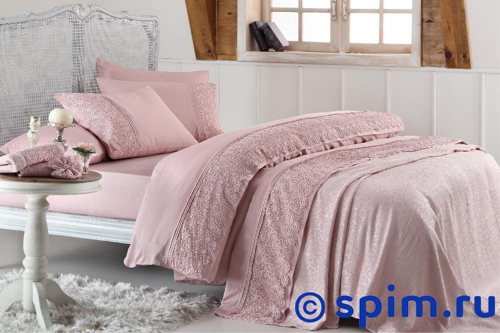 Постельное белье Gelin Home с покрывалом, Marsilya кремовый Евро-стандарт