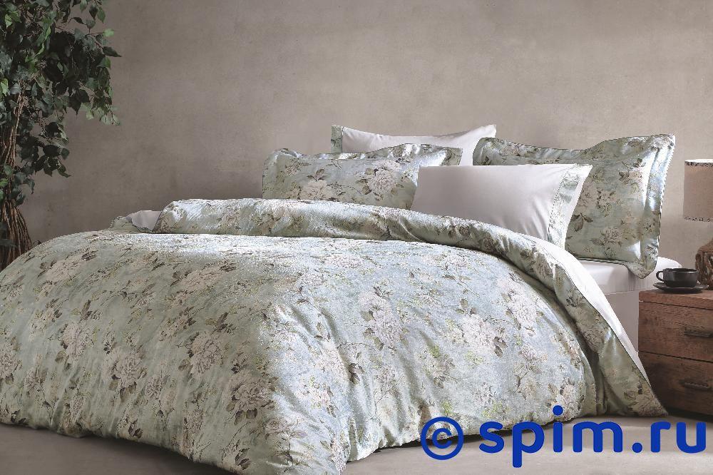 Постельное белье Tivolyo Lignum, синий Евро-стандарт