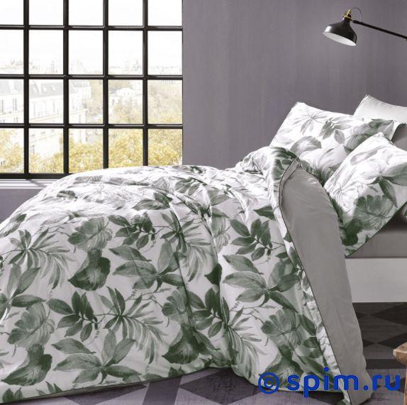 Постельное белье Tivolyo Piante, серый Евро-стандарт постельное белье tivolyo delux viola евро стандарт