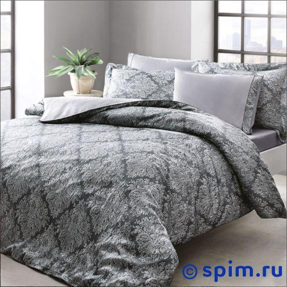 Постельное белье Tivolyo Scilia, серый Евро-стандарт