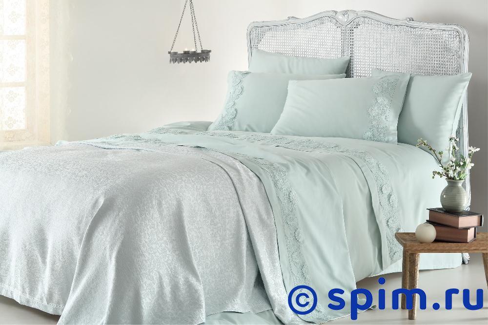 Постельное белье Gelin Home с покрывалом, Napoli персиковый Евро-стандарт