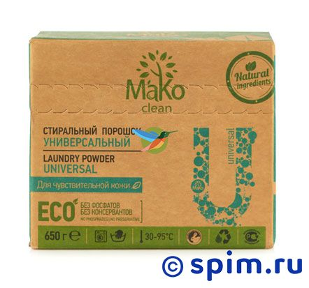 Порошок стиральный Mako clean Universal (650 г) mako clean порошок стиральный universal универсальный 650 г