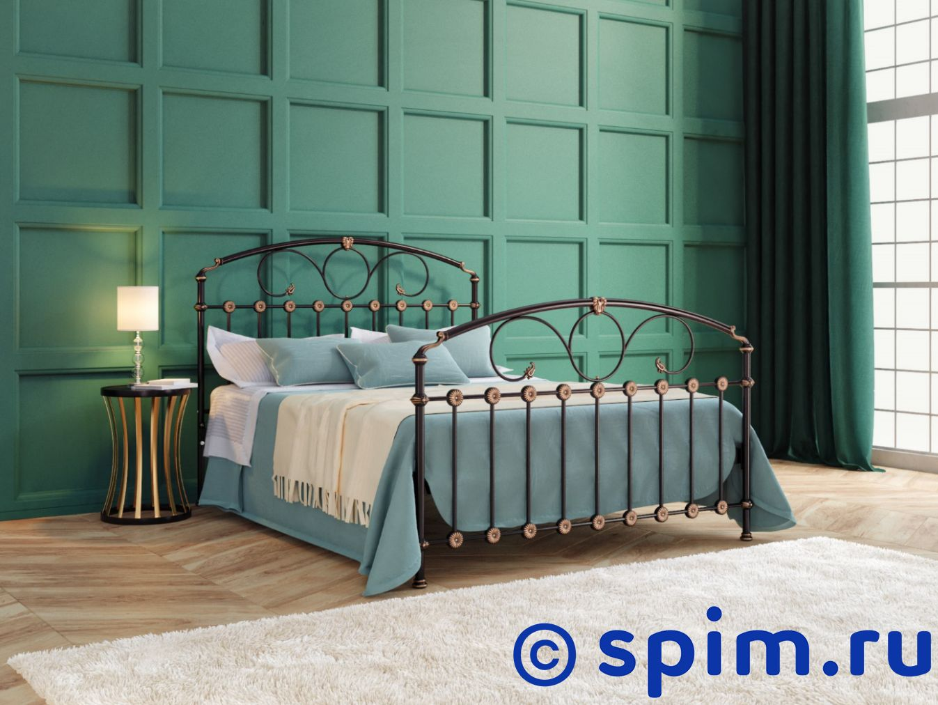 Кровать Originals by Dreamline Rosaline (2 спинки) 90х190 см матрас dreamline springless soft slim 90х195 см