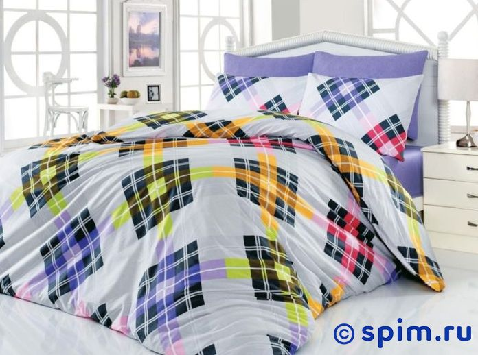 Постельное белье Cotton Life Smart (50х70 см), лиловый Евро-стандарт restline подушка cotton 50 70