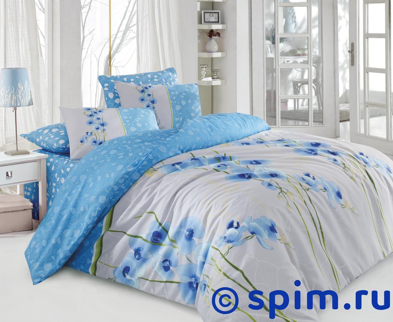Постельное белье Cotton Life Orkide (50х70 см), голубой Евро-стандарт restline подушка cotton 50 70