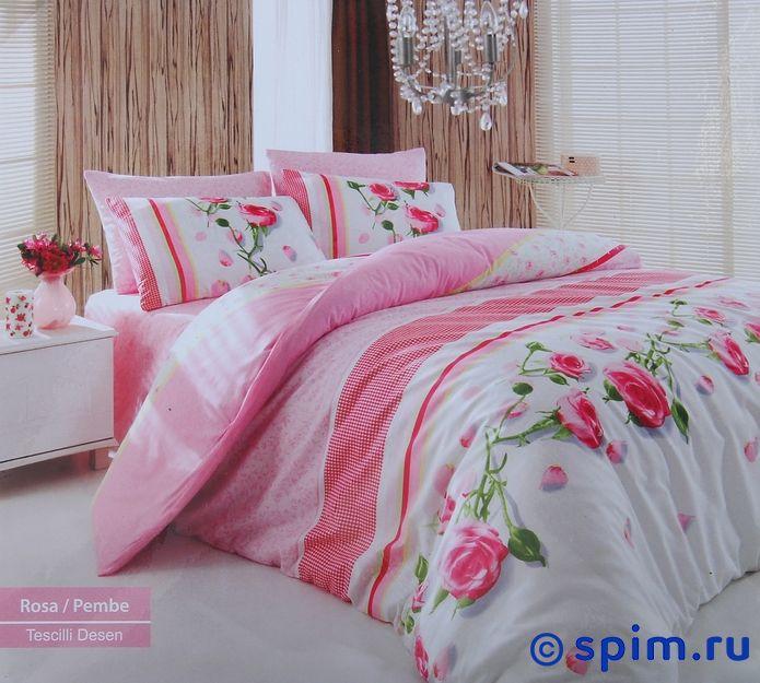 где купить Постельное белье Cotton Life Rosa (70х70 см), розовый 1.5 спальное по лучшей цене