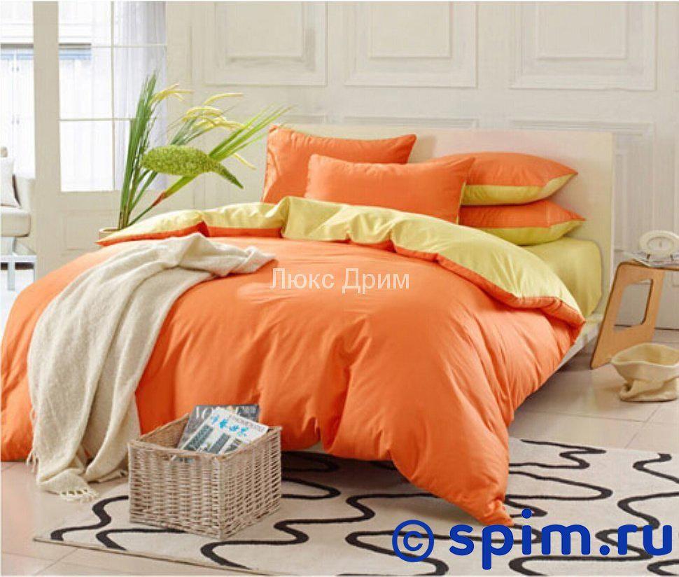 Комплект Luxe Dream Оранжево-Желтый Евро-стандарт