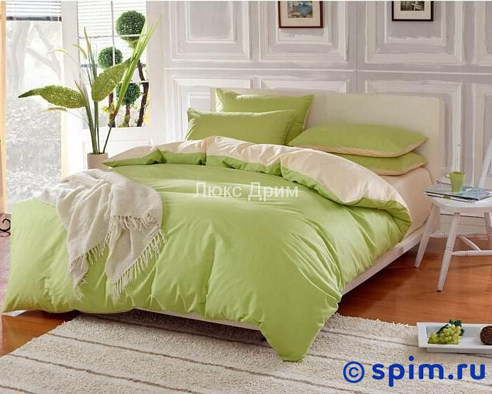 Комплект Luxe Dream Салатово-Бежевый Евро-стандарт
