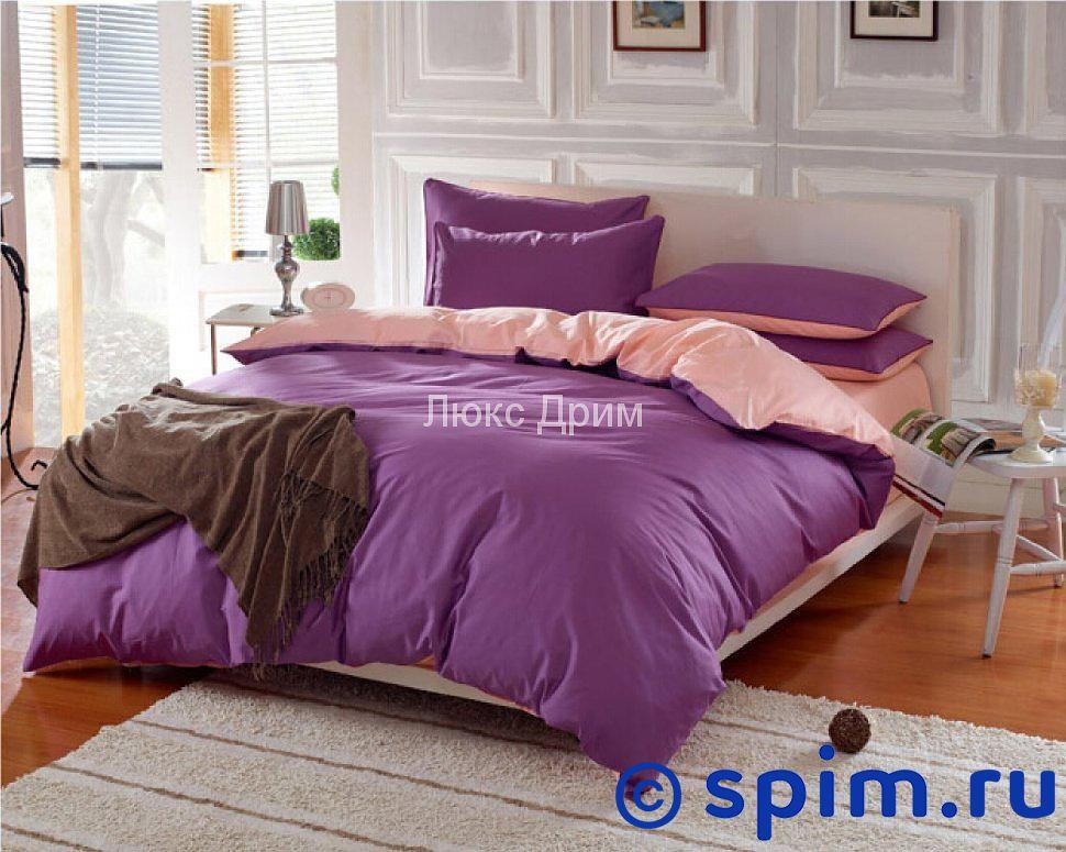Постельное белье Luxe Dream Фиолетово-Кремовый Евро-стандарт