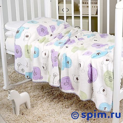 Плед Отк Разноцветные мишки на белом 100х120 см