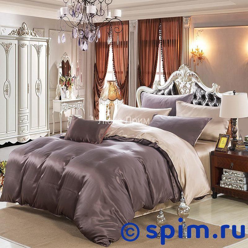 Комплект Luxe Dream Коричнево-бежевый Евро-стандарт