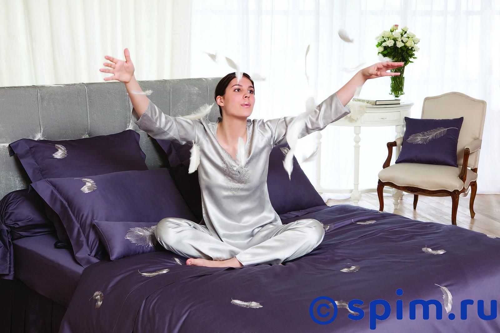 Постельное белье Catherine Denoual Перья 1.5 спальное