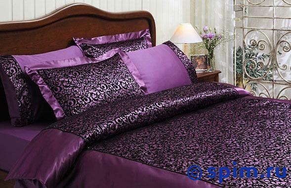 Постельное белье Tivolyo Christina Flok, фиолетовый Евро-стандарт постельное белье tivolyo delux viola евро стандарт