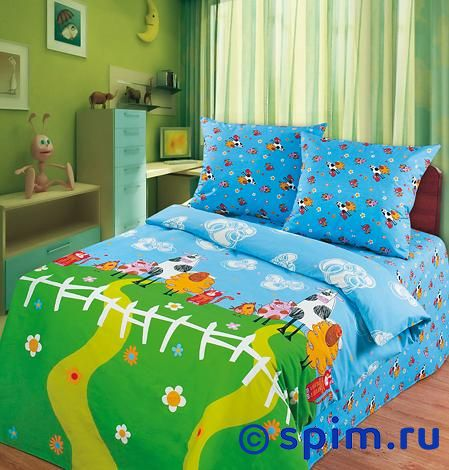Детское постельное белье Веселая ферма непоседа непоседа детское постельное белье 1 5 спальное соревнования