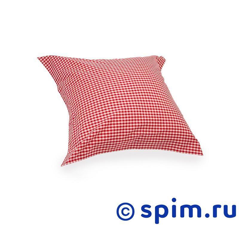 Декоративная наволочка Helgi Home Бейсик , красная в клетку helgi home подушка декоративная роял солтворкс
