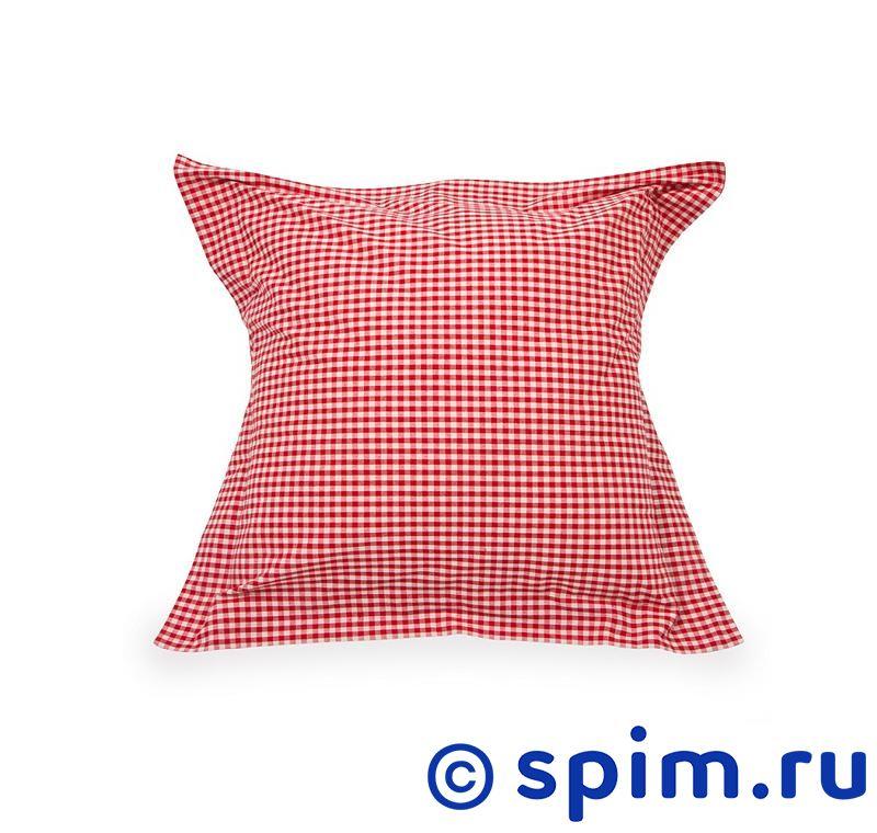 Декоративная наволочка Helgi Home Бейсик , красная в клетку