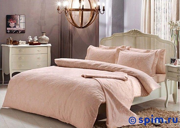Постельное белье Tivolyo Algardi, розовый Евро-стандарт постельное белье tivolyo delux viola евро стандарт
